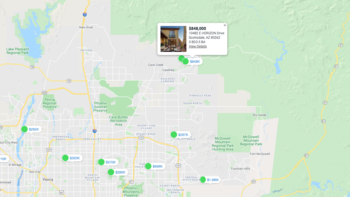 Search MLS Interactive Map